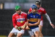 14 November 2020; Robbie O'Flynn of Cork shoulders Jason Forde of Tipperary during the GAA Hurling All-Ireland Senior Championship Qualifier Round 2 match between Cork and Tipperary at LIT Gaelic Grounds in Limerick. Photo by Brendan Moran/Sportsfile