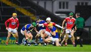 14 November 2020; Bill Cooper of Cork in action against Tipperary players, left to right, Noel McGrath, Alan Flynn and Ronan Maher during the GAA Hurling All-Ireland Senior Championship Qualifier Round 2 match between Cork and Tipperary at LIT Gaelic Grounds in Limerick. Photo by Daire Brennan/Sportsfile