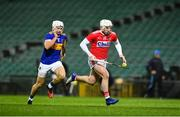 14 November 2020; Patrick Horgan of Cork in action against Niall O'Meara of Tipperary during the GAA Hurling All-Ireland Senior Championship Qualifier Round 2 match between Cork and Tipperary at LIT Gaelic Grounds in Limerick. Photo by Daire Brennan/Sportsfile