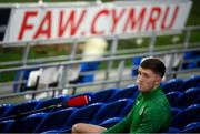 14 November 2020; Dara O'Shea speaking to Sky Sports prior to a Republic of Ireland training session at Cardiff City Stadium in Cardiff, Wales. Photo by Stephen McCarthy/Sportsfile