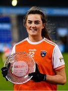 14 November 2020; Aimee Mackin of Armagh accepts the Player of the Match award following the TG4 All-Ireland Senior Ladies Football Championship Round 3 match between Armagh and Mayo at Parnell Park in Dublin. Photo by Sam Barnes/Sportsfile