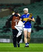 14 November 2020; Brendan Maher of Tipperary dries his hurl before taking a free during the GAA Hurling All-Ireland Senior Championship Qualifier Round 2 match between Cork and Tipperary at LIT Gaelic Grounds in Limerick. Photo by Daire Brennan/Sportsfile