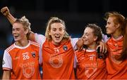 14 November 2020; Armagh players from left, Shauna Grey, Kelly Mallon, Aoife McCoy and Blaithin Mackin celebrate following the TG4 All-Ireland Senior Ladies Football Championship Round 3 match between Armagh and Mayo at Parnell Park in Dublin. Photo by Sam Barnes/Sportsfile