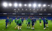 14 November 2020; Josh Cullen in action during a Republic of Ireland training session at Cardiff City Stadium in Cardiff, Wales. Photo by Stephen McCarthy/Sportsfile