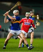 14 November 2020; Brendan Maher of Tipperary in action against Shane Kingston of Cork during the GAA Hurling All-Ireland Senior Championship Qualifier Round 2 match between Cork and Tipperary at LIT Gaelic Grounds in Limerick. Photo by Brendan Moran/Sportsfile