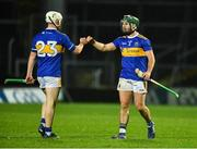 14 November 2020; Paul Flynn, left, and Cathal Barrett of Tipperary celebrate after the GAA Hurling All-Ireland Senior Championship Qualifier Round 2 match between Cork and Tipperary at LIT Gaelic Grounds in Limerick. Photo by Daire Brennan/Sportsfile