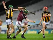 14 November 2020; Brian Concannon of Galway in action against Tommy Walsh, left, and Cillian Buckley of Kilkenny during the Leinster GAA Hurling Senior Championship Final match between Kilkenny and Galway at Croke Park in Dublin. Photo by Seb Daly/Sportsfile