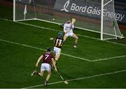 14 November 2020; TJ Reid of Kilkenny shoots to score his side's second goal past Éanna Murphy of Galway during the Leinster GAA Hurling Senior Championship Final match between Kilkenny and Galway at Croke Park in Dublin. Photo by Harry Murphy/Sportsfile