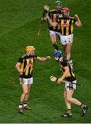 14 November 2020; Kilkenny players, including Richie Reid and John Donnelly, celebrate victory following the Leinster GAA Hurling Senior Championship Final match between Kilkenny and Galway at Croke Park in Dublin. Photo by Harry Murphy/Sportsfile