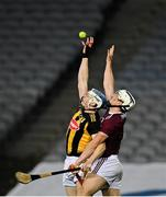 14 November 2020; TJ Reid of Kilkenny in action against Daithí Burke of Galway during the Leinster GAA Hurling Senior Championship Final match between Kilkenny and Galway at Croke Park in Dublin. Photo by Seb Daly/Sportsfile