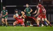 14 November 2020; Ultan Dillane of Connacht is tackled by Taylor Davies of Scarlets during the Guinness PRO14 match between Connacht and Scarlets at Sportsground in Galway. Photo by David Fitzgerald/Sportsfile