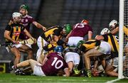 14 November 2020; Kilkenny backs and Galway forwards vie for possession of the sliotar during the Leinster GAA Hurling Senior Championship Final match between Kilkenny and Galway at Croke Park in Dublin. Photo by Ray McManus/Sportsfile