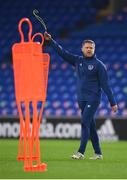 14 November 2020; Republic of Ireland coach Damien Duff during a Republic of Ireland training session at Cardiff City Stadium in Cardiff, Wales. Photo by Stephen McCarthy/Sportsfile