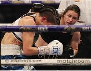 14 November 2020; Katie Taylor, right, and Miriam Gutierrez during their Undisputed Female Lightweight Championship bout at SSE Wembley Arena in London, England. Photo by Mark Robinson / Matchroom Boxing via Sportsfile