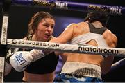 14 November 2020; Katie Taylor, left, and Miriam Gutierrez during their Undisputed Female Lightweight Championship bout at SSE Wembley Arena in London, England. Photo by Dave Thompson / Matchroom Boxing via Sportsfile