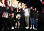 14 November 2020; Katie Taylor poses for a photographer with her team and famiy following her Undisputed Female Lightweight Championship bout victory over Miriam Gutierrez at SSE Wembley Arena in London, England. Photo by Mark Robinson / Matchroom Boxing via Sportsfile