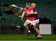 14 November 2020; Darragh Fitzgibbon of Cork in action against Padraic Maher of Tipperary during the GAA Hurling All-Ireland Senior Championship Qualifier Round 2 match between Cork and Tipperary at LIT Gaelic Grounds in Limerick. Photo by Brendan Moran/Sportsfile