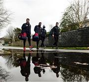 15 November 2020; Galway players arrive ahead of the Connacht GAA Football Senior Championship Final match between Galway and Mayo at Pearse Stadium in Galway. Photo by Ramsey Cardy/Sportsfile