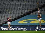 14 November 2020; Cathal Mannion of Galway scores a point under pressure from Padraig Walsh of Kilkenny during the Leinster GAA Hurling Senior Championship Final match between Kilkenny and Galway at Croke Park in Dublin. Photo by Seb Daly/Sportsfile