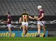 14 November 2020; Richie Hogan of Kilkenny and Shane Cooney of Galway fist-bump during the Leinster GAA Hurling Senior Championship Final match between Kilkenny and Galway at Croke Park in Dublin. Photo by Seb Daly/Sportsfile