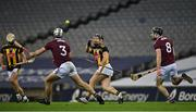 14 November 2020; Richie Hogan of Kilkenny in action against Daithí Burke, left, and Padraic Mannion of Galway during the Leinster GAA Hurling Senior Championship Final match between Kilkenny and Galway at Croke Park in Dublin. Photo by Seb Daly/Sportsfile