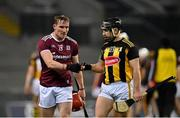 14 November 2020; Conor Whelan of Galway, left, and Richie Hogan of Kilkenny following the Leinster GAA Hurling Senior Championship Final match between Kilkenny and Galway at Croke Park in Dublin. Photo by Seb Daly/Sportsfile