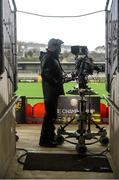 15 November 2020; A camera man is seen ahead of the Ulster GAA Football Senior Championship Semi-Final match between Cavan and Down at Athletic Grounds in Armagh. Photo by Philip Fitzpatrick/Sportsfile