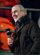 15 November 2020; Former Tyrone manager and BBC Sport pundit Mickey Harte ahead of the Ulster GAA Football Senior Championship Semi-Final match between Cavan and Down at Athletic Grounds in Armagh. Photo by Daire Brennan/Sportsfile