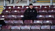 15 November 2020; Damien Comer of Galway sits on the substitutes bench prior to the Connacht GAA Football Senior Championship Final match between Galway and Mayo at Pearse Stadium in Galway. Photo by David Fitzgerald/Sportsfile
