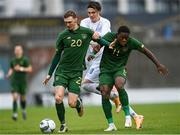 15 November 2020; Jack Taylor, left, and Michael Obafemi of Republic of Ireland in action against Willum Þór Willumsson of Iceland during the UEFA European U21 Championship Qualifier match between Republic of Ireland and Iceland at Tallaght Stadium in Dublin.  Photo by Harry Murphy/Sportsfile