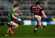 15 November 2020; Shane Walsh of Galway in action against Ryan O'Donoghue of Mayo during the Connacht GAA Football Senior Championship Final match between Galway and Mayo at Pearse Stadium in Galway. Photo by Ramsey Cardy/Sportsfile