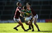 15 November 2020; Tommy Conroy of Mayo in action against Gary O'Donnell, left, and Sean Mulkerry of Galway during the Connacht GAA Football Senior Championship Final match between Galway and Mayo at Pearse Stadium in Galway. Photo by David Fitzgerald/Sportsfile
