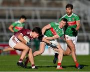 15 November 2020; Sean Kelly of Galway in action against Cillian O'Connor of Mayo during the Connacht GAA Football Senior Championship Final match between Galway and Mayo at Pearse Stadium in Galway. Photo by Ramsey Cardy/Sportsfile