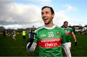 15 November 2020; Keith Higgins of Mayo celebrates following the Connacht GAA Football Senior Championship Final match between Galway and Mayo at Pearse Stadium in Galway. Photo by David Fitzgerald/Sportsfile
