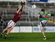 15 November 2020; Patrick Durcan of Mayo in action against Johnny Heaney of Galway during the Connacht GAA Football Senior Championship Final match between Galway and Mayo at Pearse Stadium in Galway. Photo by Ramsey Cardy/Sportsfile