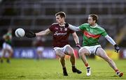 15 November 2020; Liam Silke of Galway in action against Keith Higgins of Mayo during the Connacht GAA Football Senior Championship Final match between Galway and Mayo at Pearse Stadium in Galway. Photo by David Fitzgerald/Sportsfile
