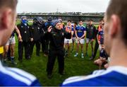15 November 2020; Cavan manager Mickey Graham speaks to his players after the Ulster GAA Football Senior Championship Semi-Final match between Cavan and Down at Athletic Grounds in Armagh. Photo by Dáire Brennan/Sportsfile
