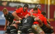 15 November 2020; Munster players including Jean Kleyn and Jack O'Donoghue compete in a maul during the Guinness PRO14 match between Munster and Ospreys at Thomond Park in Limerick. Photo by Diarmuid Greene/Sportsfile