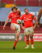 15 November 2020; Ben Healy of Munster kicks for touch during the Guinness PRO14 match between Munster and Ospreys at Thomond Park in Limerick. Photo by Diarmuid Greene/Sportsfile