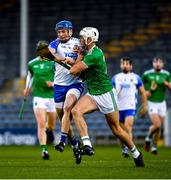 15 November 2020; Austin Gleeson of Waterford in action against Kyle Hayes of Limerick during the Munster GAA Hurling Senior Championship Final match between Limerick and Waterford at Semple Stadium in Thurles, Tipperary. Photo by Ray McManus/Sportsfile