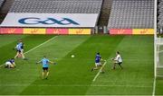 15 November 2020; Seán Bugler of Dublin scores his side's first goal during the Leinster GAA Football Senior Championship Semi-Final match between Dublin and Laois at Croke Park in Dublin. Photo by Eóin Noonan/Sportsfile