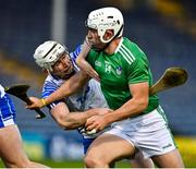15 November 2020; Aaron Gillane of Limerick is tackled by Shane McNulty of Waterford during the Munster GAA Hurling Senior Championship Final match between Limerick and Waterford at Semple Stadium in Thurles, Tipperary. Photo by Brendan Moran/Sportsfile