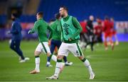 15 November 2020; Shane Duffy of Republic of Ireland prior to the UEFA Nations League B match between Wales and Republic of Ireland at Cardiff City Stadium in Cardiff, Wales. Photo by Stephen McCarthy/Sportsfile