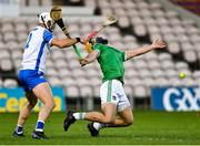 15 November 2020; Tom Morrissey of Limerick is tackled by Shane Fives of Waterford during the Munster GAA Hurling Senior Championship Final match between Limerick and Waterford at Semple Stadium in Thurles, Tipperary. Photo by Brendan Moran/Sportsfile