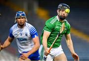 15 November 2020; Graeme Mulcahy of Limerick in action against / Conor Prunty of Waterford during the Munster GAA Hurling Senior Championship Final match between Limerick and Waterford at Semple Stadium in Thurles, Tipperary. Photo by Brendan Moran/Sportsfile
