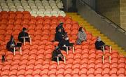 15 November 2020; The press reporters during the Ulster GAA Football Senior Championship Semi-Final match between Cavan and Down at Athletic Grounds in Armagh. Photo by Philip Fitzpatrick/Sportsfile