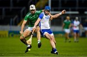 15 November 2020; Austin Gleeson of Waterford in action against Kyle Hayes of Limerick during the Munster GAA Hurling Senior Championship Final match between Limerick and Waterford at Semple Stadium in Thurles, Tipperary. Photo by Brendan Moran/Sportsfile
