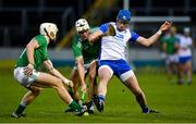 15 November 2020; Austin Gleeson of Waterford in action against Kyle Hayes and Cian Lynch of Limerick during the Munster GAA Hurling Senior Championship Final match between Limerick and Waterford at Semple Stadium in Thurles, Tipperary. Photo by Brendan Moran/Sportsfile