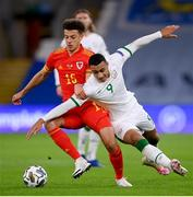 15 November 2020; Ethan Ampadu of Wales in action against Adam Idah of Republic of Ireland during the UEFA Nations League B match between Wales and Republic of Ireland at Cardiff City Stadium in Cardiff, Wales. Photo by Stephen McCarthy/Sportsfile