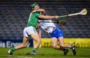 15 November 2020; Sean Finn of Limerick and Dessie Hutchinson of Waterford contest position during the Munster GAA Hurling Senior Championship Final match between Limerick and Waterford at Semple Stadium in Thurles, Tipperary. Photo by Brendan Moran/Sportsfile